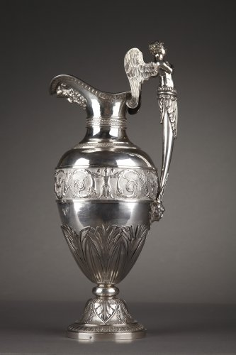 19th century - Silver ewer with bowl by Edme Gelez. Circa 1809-1819