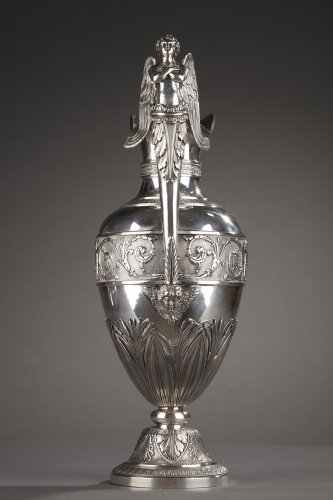 Silver ewer with bowl by Edme Gelez. Circa 1809-1819 - Restauration - Charles X