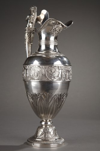 Restauration - Charles X - Silver ewer with bowl by Edme Gelez. Circa 1809-1819