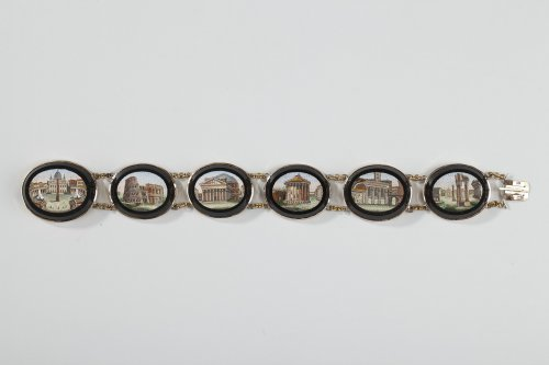 Micromosaic bracelet. Early 19th century.  - Antique Jewellery Style