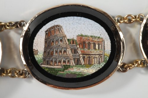 Micromosaic bracelet. Early 19th century.  -