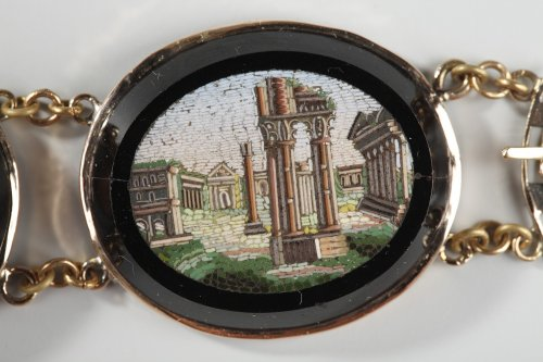 Antiquités - Micromosaic bracelet. Early 19th century.