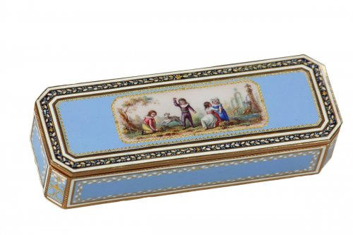 Gold and enamel snuffbox, end of the 18th century