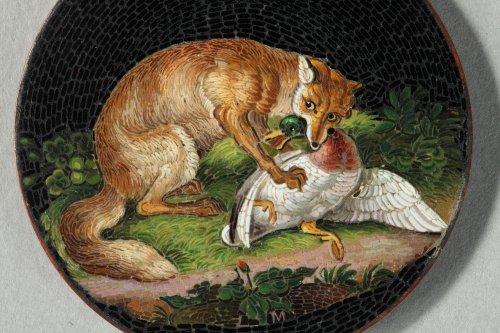 Micromosaic plate Luigi Cavaliere Moglia. Mid 19th century.  - Objects of Vertu Style