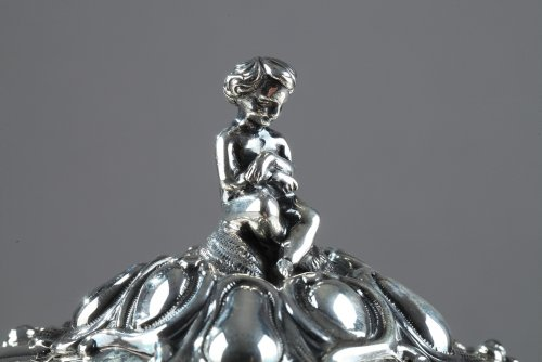Antique Silver  - Silver Oille Tureen by Emile Hugo Late 19th Century.