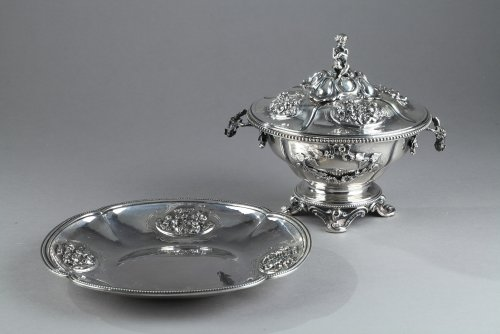 19th century - Silver Oille Tureen by Emile Hugo Late 19th Century.