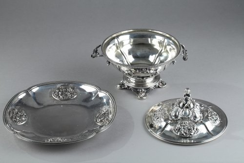 Antiquités - Silver Oille Tureen by Emile Hugo Late 19th Century.