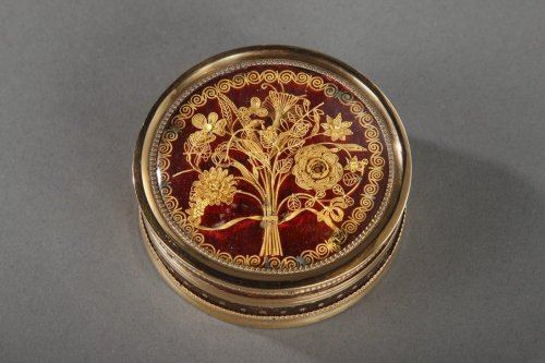 Gold and Tortoiseshell Box, 18th Century. - Objects of Vertu Style