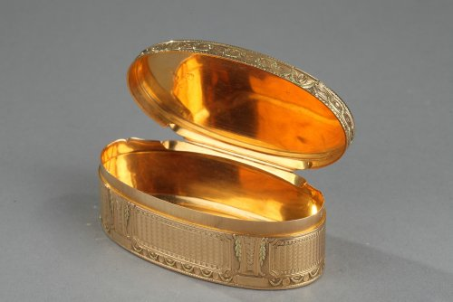 18th century - Gold box of Louis XVI period