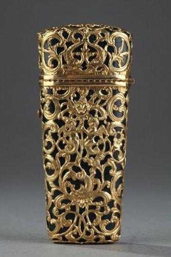 18th century - Jasper and gold case, 18th century English crafstmanship