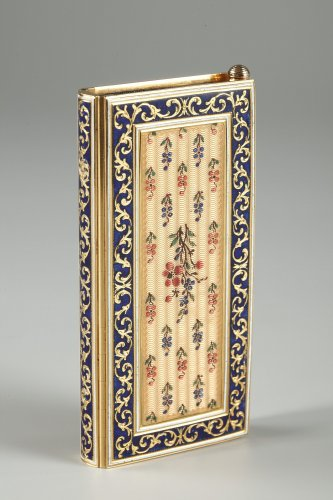 Dance card in gold and enamel Restauration period - Objects of Vertu Style Restauration - Charles X
