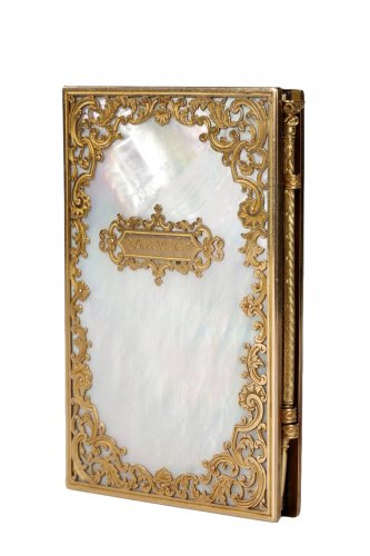 Charles X dance card in mother-of-pearl and gold, Restauration period