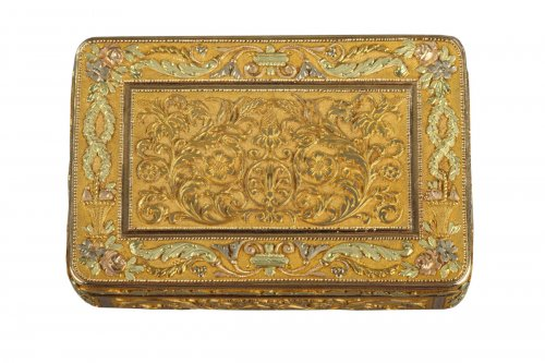 Gold box. Early 19th century French Restauration