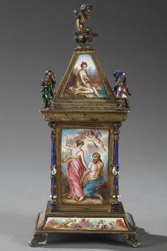 Austrian and enamel silver clock - Napoléon III