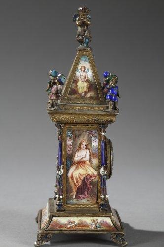 Napoléon III - Austrian and enamel silver clock