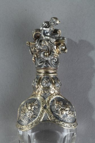 Silver and Crystal Flask Restauration period - Objects of Vertu Style Restauration - Charles X