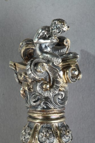 Silver and Crystal Flask Restauration period -