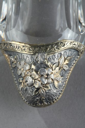 19th century - Silver and Crystal Flask Restauration period