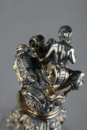 Silver and Crystal Flask Restauration period - Restauration - Charles X