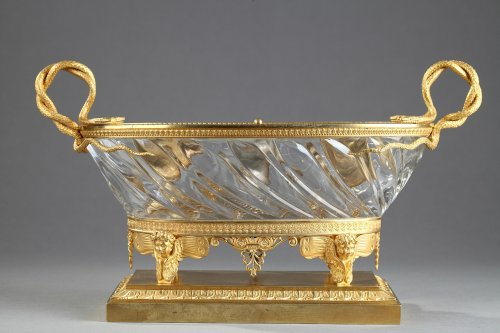 Charles X Cut crystal gilded bronze inkwell circa 1815-1820 - Decorative Objects Style Restauration - Charles X