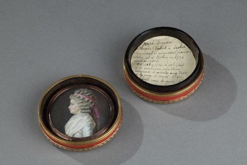 18th century - Vernis Martin and Gold Box with Miniatures