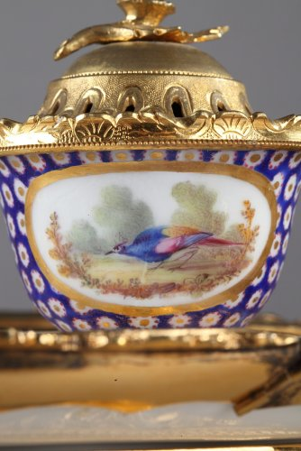 18th century Inkstand in  Sevres porcelain -
