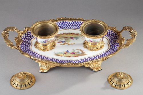Louis XVI - 18th century Inkstand in  Sevres porcelain