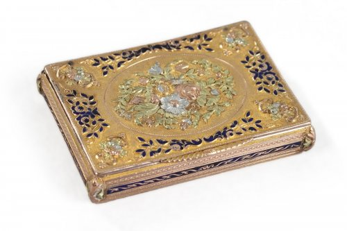 Early 19th gold and enamel box. Swiss work