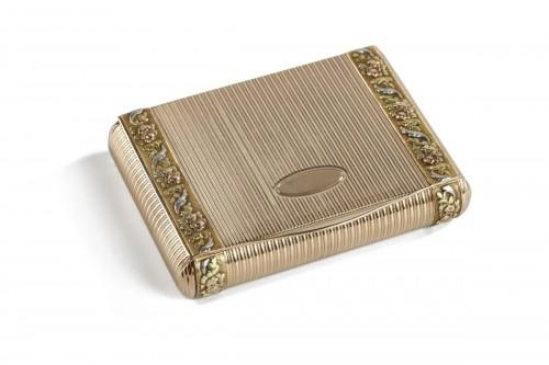 Gold box. Mid-19th century.