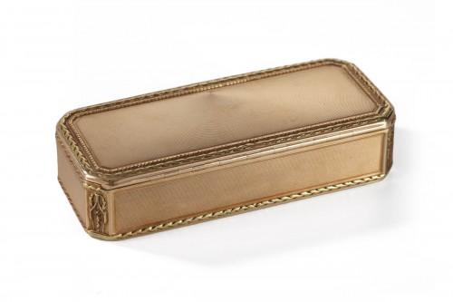 Gold snuff box End 18h century.