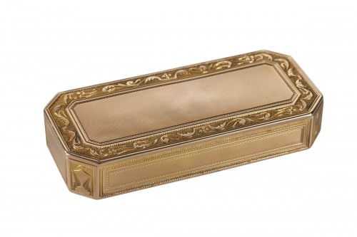 Gold box with cut sides