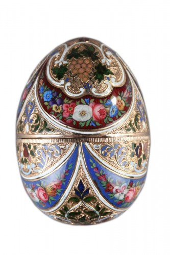 Enameled Gold Egg – 19th Century