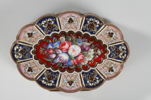 Enameled Gold Snuff Box, 19th century -