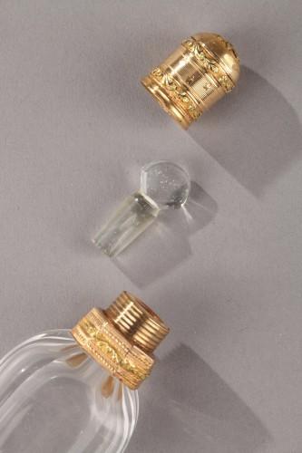 Gold and cut crystal perfume flask Louis XVI Circa 1784 -