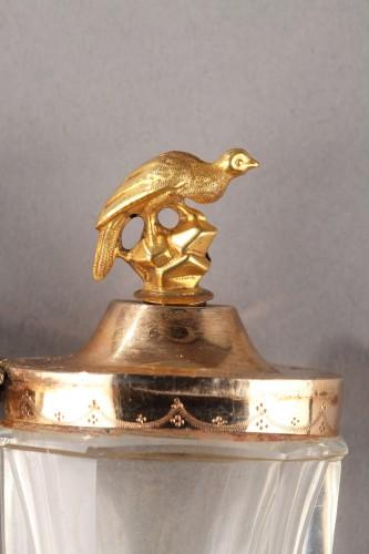 Gold an cut crystal perfume Flask18th Century -