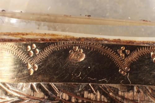 Louis XVI - Gold an cut crystal perfume Flask18th Century