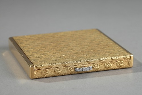 Gold and diamonds Boucheron case. 1960 - Antique Jewellery Style 50