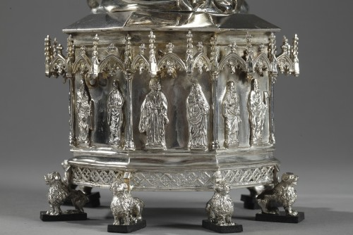 19th century - Silver and ivory Virgin Mary and Child