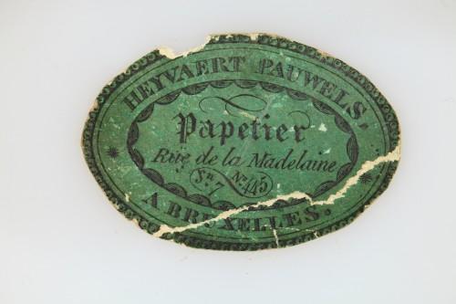 19th century - Charles X white opaline jewelery Box Circa 1820