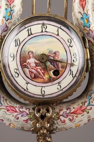 Austrian and enamel silver clock - Clocks Style