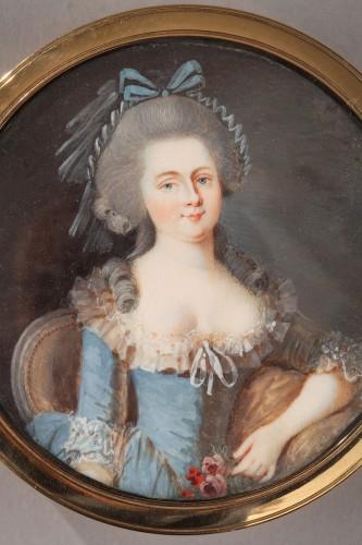 Gold, Tortoiseshell, and Ivory Box – Louis XVI period  -