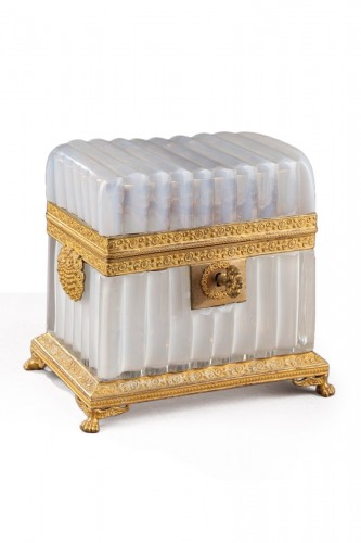 White Opaline Box – Charles X Period.