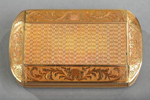19th century - Gold Snuff Box, Restauration Period circa 1820-1830