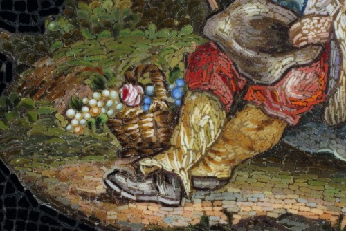 Objects of Vertu  - Micromosaic of Shepherd. Early 19th Century.