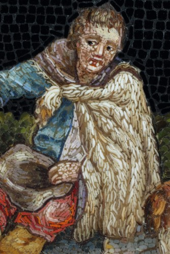 Micromosaic of Shepherd. Early 19th Century. -