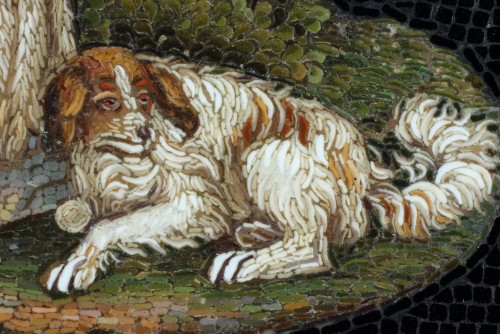 19th century - Micromosaic of Shepherd. Early 19th Century.