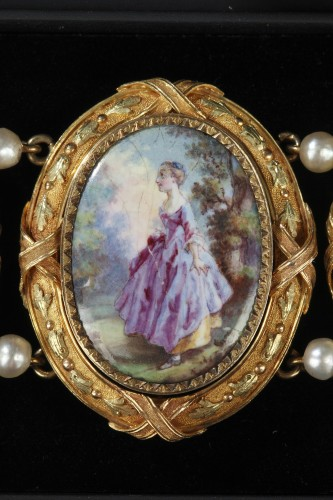 Gold and enamel bracelet - Antique Jewellery Style Napoléon III