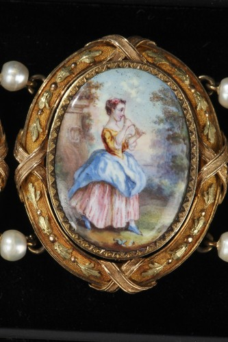 19th century - Gold and enamel bracelet