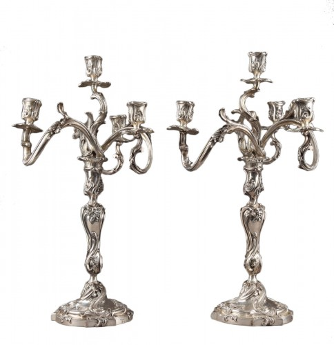 Silver candelabra Signed BOIN TABURET
