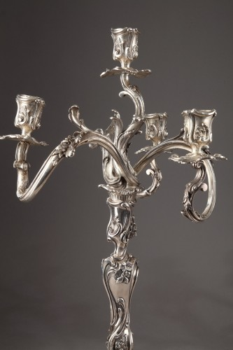 Lighting  - Silver candelabra Signed BOIN TABURET